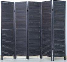 Paravento persiana di 5 pannelli in legno, colore