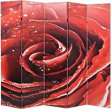 Paravento Pieghevole 200x170 cm Stampa Rosa Rossa