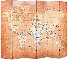 Paravento Pieghevole 228x170 cm Stampa Mappa del