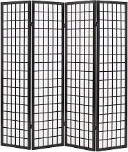 Paravento Pieghevole 4 Pannelli Stile Giapponese