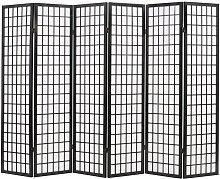 Paravento Pieghevole 6 Pannelli Stile Giapponese