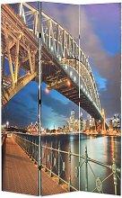 Paravento Pieghevole con Stampa Harbour Bridge di