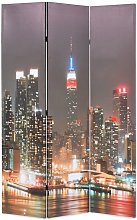 Paravento Pieghevole in Legno con Stampa New York