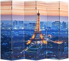 Paravento Pieghevolein Legno Stampa Parigi di