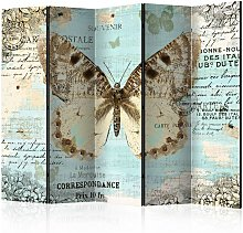 Paravento Postcard with butterfly II Ro cm 225x172