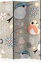 Paravento separé - Natural pattern with birds