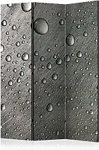 Paravento separé - Steel surface with water drops