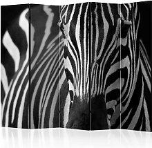 Paravento separé - White with black stripes II