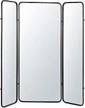 Paravento specchio e metallo nero