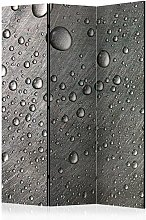 Paravento Steel surface with water drops cm
