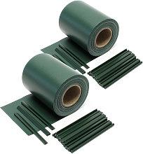 Paravista frangivento, 70mx19cm verde, in PVC