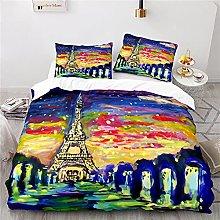 Parigi Torre Eiffel Copripiumino 200X200 Cm