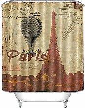Parigi Torre Eiffel Stampa HD, tenda da doccia