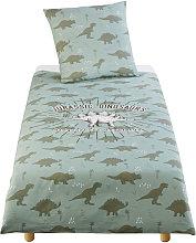 Parure da letto bambino in cotone verde kaki