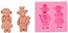 Pasticceria francese Teddy Bear Paio Pane, 3D in