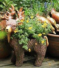 Pastorale Resina Animal Elk Flower Pot Ornamenti