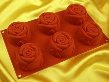 Pati-Versand Stampo in Silicone, Colore: Rosso,