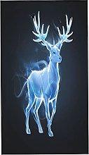 Patronus Silver Cervo Elk, 2 asciugamani da bagno,