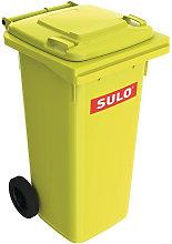 Pattumiera grande 120l HDPE giallo, mobile secondo