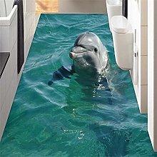 Pavimento Personalizzato 3D Bagno Cute Dolphin
