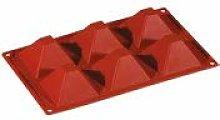 PAVONI Stampo in Silicone Piramide 71X71
