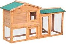 PawHut Conigliera in Legno per Animali Domestici,