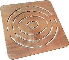 Pedana antiscivolo quadrata 50x50 in Legno Okumè