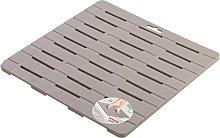 Pedana Doccia 55 x 55 Tortora in Plastica con