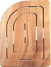 Pedana Doccia in Legno Marino 74 x 55 cm Stondato