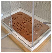 Pedana doccia legno marino okumé cm 96 x 67 per