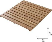 Pedana Doccia Quadrata in Legno di Bambù 50x50 cm