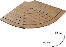Pedana Doccia Semicircolare in Legno di Bamboo