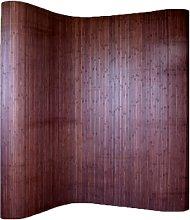 PEGANE Paravento bambù Marrone Scuro 200 x 250 cm