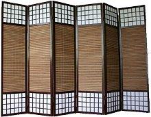 PEGANE Paravento Giapponese in Legno bambù di 6