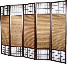 PEGANE Paravento Giapponese in Legno e bambù di 5