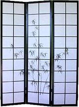 PEGANE Paravento Giapponese in Legno Nero con