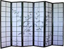 Pegane - Paravento giapponese in legno nero con