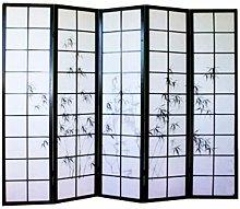 Pegane - Paravento giapponese in legno nero