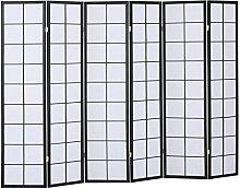 PEGANE Paravento Giapponese Shoji in Legno Nero di