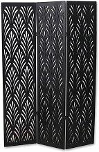 Pegane - Paravento in legno colore negro di 5
