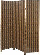 Pegane - Paravento in legno e corda di 3 pannelli
