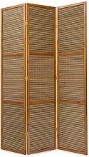 PEGANE Paravento in Legno Marrone bambù Speciale