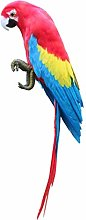 perfk 20 Pollici Feathered Bird Ornament Figurine