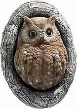 perfk Divertente Gufo Ornamenti da Giardino Statua