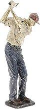 perfk Resina Uomo Golfista Statua Ornamento