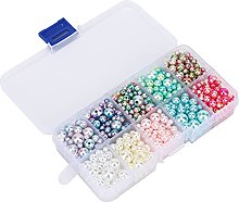 Perlina decorativa, perlina rotonda in plastica di
