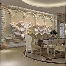 Personalizzato 3D murale moderno in rilievo angelo