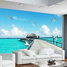 Personalizzato 3D murale moderno paesaggio marino