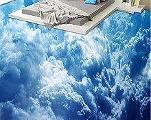 Personalizzato 3D Pavimentazione Murale Nuvola