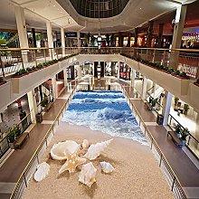 Personalizzato 3D Pavimento Murale Sea Wave Beach